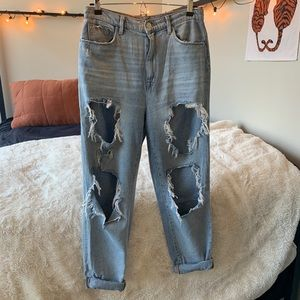 Urban Oufitters high-waisted destroyed mom jean